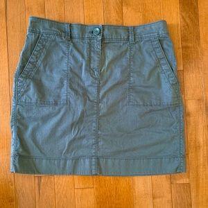 Grey Cargo Mini Skirt